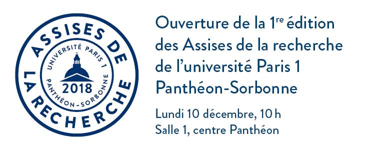 Première édition des Assises de la recherche de l université Paris 1  Panthéon-Sorbonne d773c2ffae16d